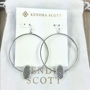 Kendra Scott Elora platinum drusy silver earrings